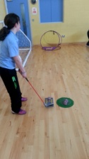 Golf lessons in the hall
